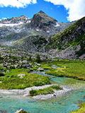 Mountain Glacial Stream Water - Italian Alps Stock Images