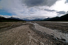 Glacial Valley and Braided River Royalty Free Stock Photography