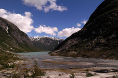 Glacial valley Royalty Free Stock Image