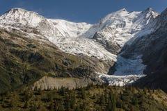 Glacial valley in Graian Alps Stock Photos