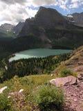 Glacial Vista. Ho hum view of glacier park royalty free stock photography