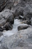Glacial Water. Water from the Kjenndal Glacier Stock Photos