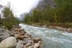 Glacial water royalty free stock images