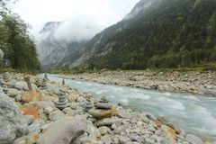 Glacial water royalty free stock photography