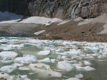 Glacial Lake at Mt. Edith Cavell royalty free stock photography