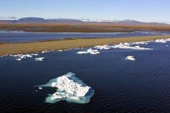 Glaciar ártico fotografía de archivo libre de regalías