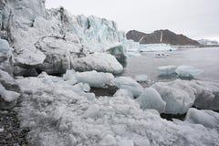 Glaciar ártico de fusión Foto de archivo libre de regalías
