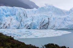 佩里托莫雷诺Glaciar阿根廷 免版税库存照片
