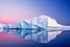 Glaciar antártico Foto de archivo