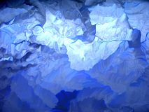 Glaciar azul Foto de archivo libre de regalías