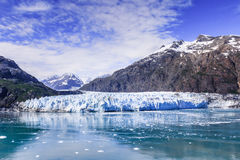 Glaciar Bay,National Park, Alaska. Glaciar Bay,National Park,Alaska.Panoramic view of the Margerie glacier in the Glacier Bay National Park Royalty Free Stock Image