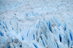 Glaciar blå is Arkivfoton