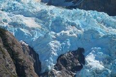 Glaciar blå is Royaltyfri Fotografi