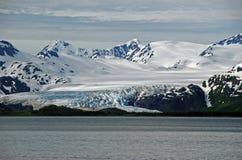 Glaciar costero en Alaska fotografía de archivo