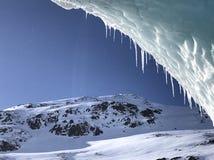 Glaciar de Alaska azul Foto de archivo libre de regalías
