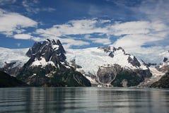 Glaciar de Alaska de la bahía del descubrimiento Fotos de archivo
