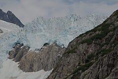 Glaciar de Alaska de la bahía del descubrimiento Fotos de archivo libres de regalías