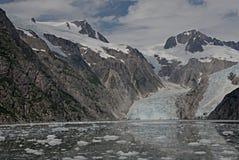 Glaciar de Alaska de la bahía del descubrimiento Foto de archivo libre de regalías