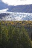 Glaciar de Alaska Mantanuska en otoño imágenes de archivo libres de regalías