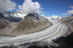Glaciar de Aletsch Fotos de archivo