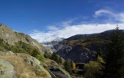 Glaciar de Aletsch del panorama Imágenes de archivo libres de regalías
