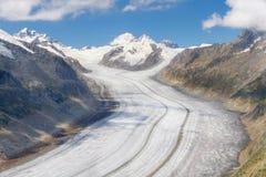 Glaciar de Aletsch, Suiza foto de archivo libre de regalías