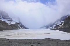 Glaciar de Athabaska. Fotografía de archivo libre de regalías