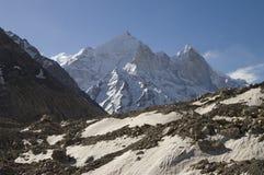 Glaciar de Bhagirathi Parbat y de Gangotri fotos de archivo libres de regalías