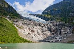 Glaciar de Boyabreen, Noruega Imagen de archivo