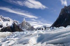 Glaciar de Cerro-torre fotos de archivo