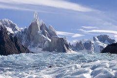 Glaciar de Cerro-torre fotografía de archivo libre de regalías