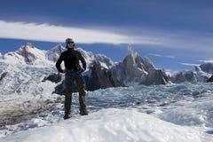 Glaciar de Cerro-torre foto de archivo libre de regalías