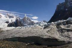 Glaciar de Cerro-Torre's fotografía de archivo