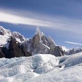 Glaciar de Cerro-Torre's foto de archivo