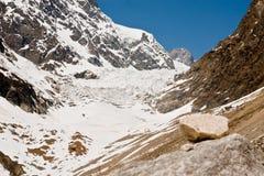Glaciar de Chalaadi cerca de Mestia - Svaneti, montañas del Cáucaso, Geor Fotografía de archivo libre de regalías