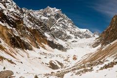 Glaciar de Chalaadi cerca de Mestia - Svaneti, montañas del Cáucaso, Geor Foto de archivo