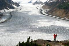 Glaciar de color salmón Foto de archivo