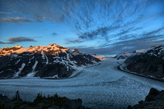 Glaciar de color salmón Imagen de archivo