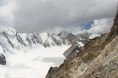 Glaciar de Dugoba, Pamir-alay Foto de archivo