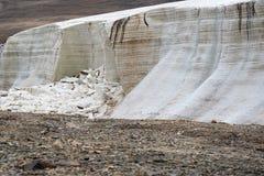 Glaciar de fusión Imagen de archivo libre de regalías