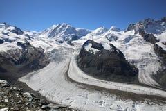 Glaciar de Gorner Fotografía de archivo libre de regalías