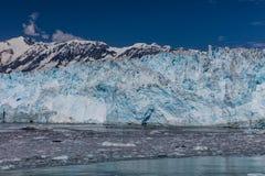Glaciar de Hubbard e hielo flotante Fotografía de archivo libre de regalías