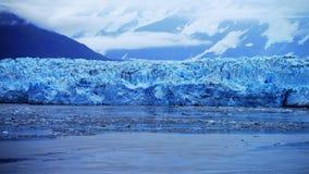 Glaciar de Hubbard en Alaska dentro del paso imagen de archivo