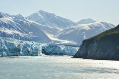 Glaciar de Hubbard en un día nublado Foto de archivo libre de regalías