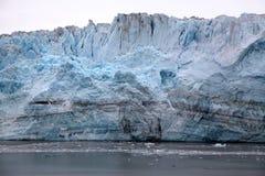 Glaciar de Hubbard 400 pies de pared del hielo Imagen de archivo libre de regalías