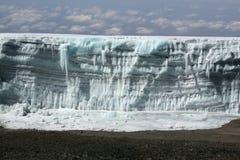 Glaciar de Kilimanjaro Fotografía de archivo
