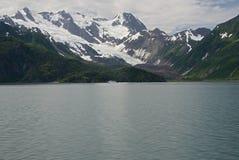 Glaciar de la bahía del descubrimiento de Alaska Imagen de archivo libre de regalías