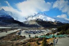 Glaciar de la montaña en Canadá Imagen de archivo libre de regalías