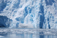 Glaciar de la parida Fotos de archivo libres de regalías