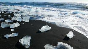 Glaciar de los azules claros del oc?ano metrajes